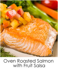 Oven Roasted Salmon with Fruit Salsa