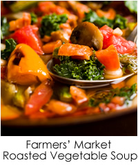 Farmers' Market Roasted Vegetable Soup