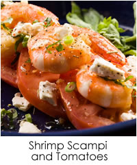 Shrimp Scampi and Tomatoes